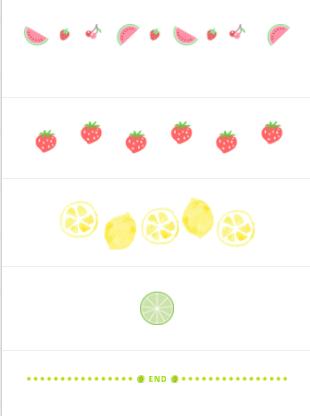 水果分隔样式