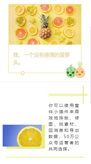 水果图文样式