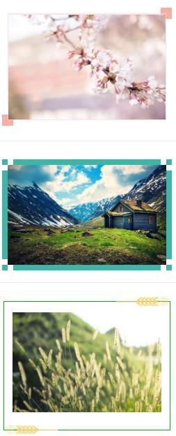 微信公众号文章图片如何添加边框?有什么好看的图片框样式?