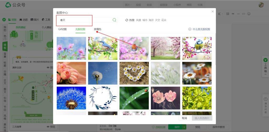 微信公众号春季踏青样式模板上新,不能出门我们就云赏花吧~